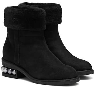 Nicholas Kirkwood Casati 35mm shearling ankle boots