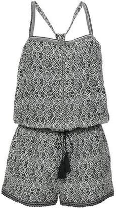 Talitha Collection Tasseled Printed Silk-gauze Playsuit