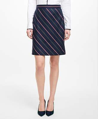 Striped Wool A-Line Skirt $98 thestylecure.com