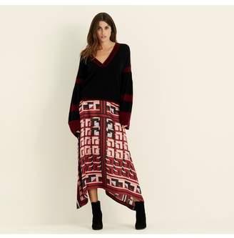 Amanda Wakeley Lilac Berry Printed Midi Skirt