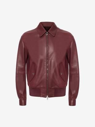Alexander McQueen Lambskin Leather Blouson Jacket