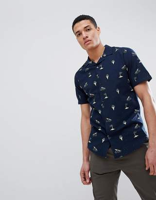 ONLY & SONS Printed Short Sleeve Shirt With Revere Collar