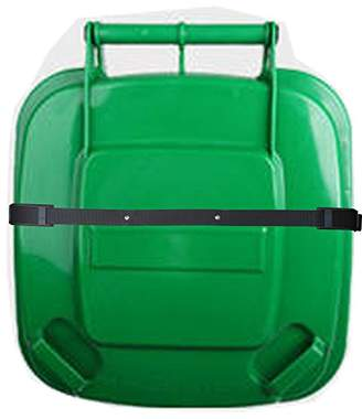 Bin Strap Garbage Lock Trash Can Lid Strap Garbage Can Security System One Piece - No More Mess !