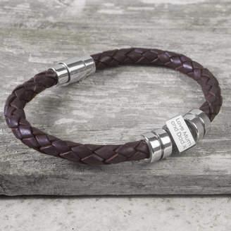 14cdf5e6bddb1b Capture & Keep Personalised Birthday Leather Bracelet For Teenagers