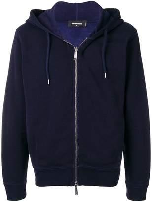 DSQUARED2 rear logo zipped hoodie