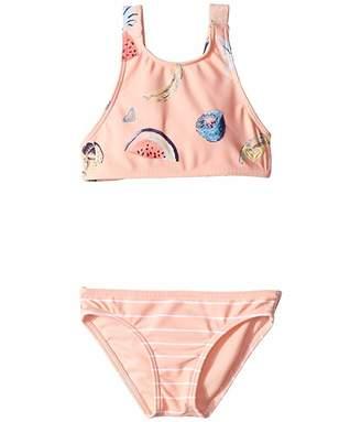 c01897a431916 Roxy Kids Splashing You Crop Top Swim Set (Toddler/Little Kids)