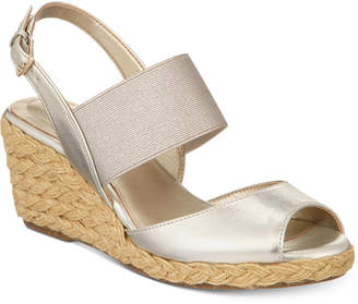 Bandolino Himeka Espadrille Wedge Sandals, Created for Macy's Women's Shoes