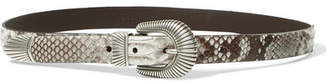 Andersons Anderson's Python Belt - Beige