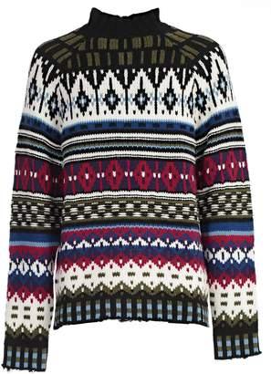 MSGM Intarsia Knit Sweater