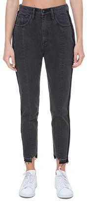 Juicy Couture Black Wash Denim Girlfriend Jean