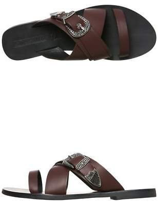 Sol Sana New Women's Womens Cassidy Leather Slide Rubber Leather Red