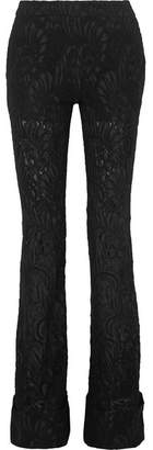 Stella McCartney Wool-blend Lace Flared Pants - Black