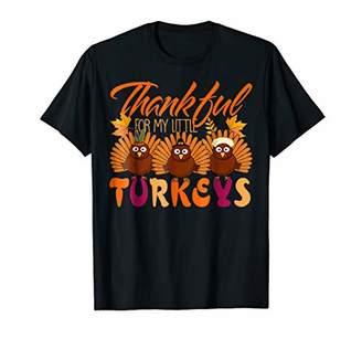 Thanksgiving Shirt Thankful for My Little Turkeys Cute Gift