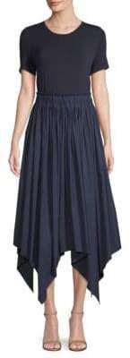 Donna Karan Mix Media Trapeze Dress