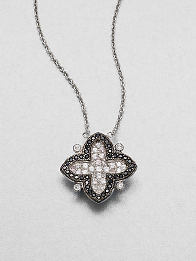 Jude Frances Semi-Precious Multi-Stone Clover Pendant Necklace
