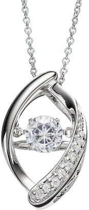 Floating Diamonluxe Floating DiamonLuxe 5/8 Carat T.W. Simulated Diamond Sterling Silver Marquise Pendant Necklace