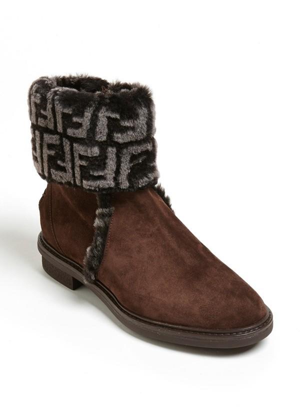 Fendi Foldover Ankle Boot