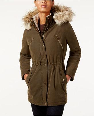 Nautica Faux-Fur-Trim Hooded Parka $200 thestylecure.com