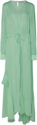 Preen Line Brea Tie-Detailed Georgette Midi Dress