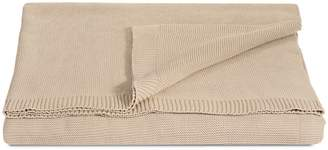Glucksteinhome Rib Knit Cotton Throw