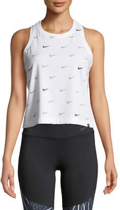 Nike Swoosh Scoop-Neck Activewear Tank Top