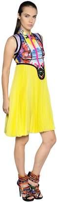 DSQUARED2 Exotic Print Scuba & Chiffon Dress