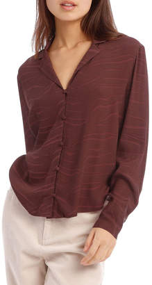 Milk and Honey Self Covered Button Shirt