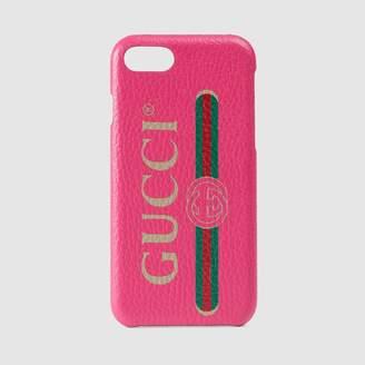 Gucci (グッチ) - GUCCI プリント iPhone 8 ケース