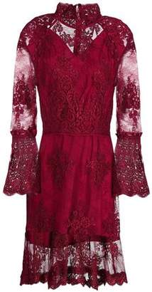 Nicholas Octavia Fluted Corded Lace Mini Dress
