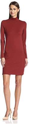Society New York Women's Seamed Turtleneck Dress