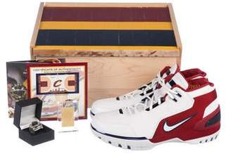 d3dc326c77b Nike 2017 LeBron 1 Air Zoom Generation Retro First Game Cavs Court Special  Package Sneakers