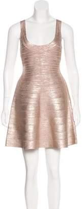 Herve Leger Metallic Eva Dress