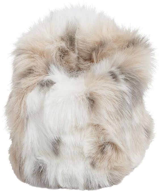 Faux Fur Beanbag Cell Phone Holder 4