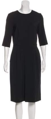 Hache Midi Three-Quarter Sleeve Dress