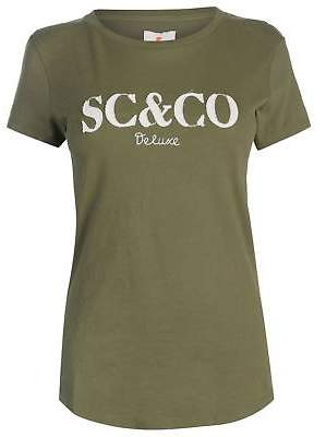 Soul Cal SoulCal Womens Deluxe SCCO T Shirt Crew Neck Tee Top Short Sleeve Lightweight
