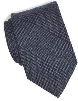 Drakes Drake's Navy Prince of Wales Plaid Tie