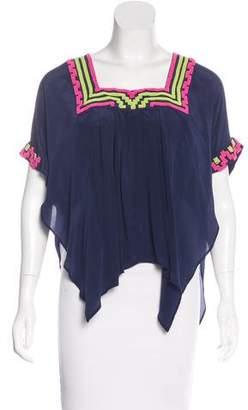 Mara Hoffman Silk Embellished Top