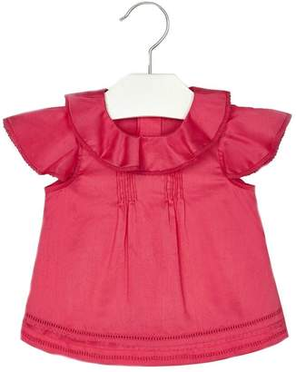 Mayoral Baby-Girl Ruffle-And-Embroidered Blouse