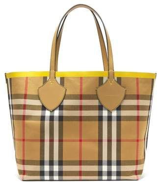 Burberry The Giant Reversible Cotton Tote - Womens - Yellow Multi