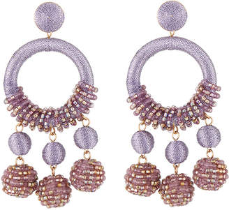 Lydell NYC Wrapped Hoop Drop Earrings