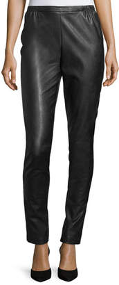 Caroline Rose Faux-Leather Skinny Pants, Plus Size