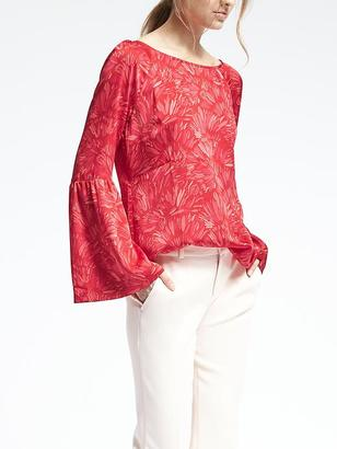 Easy Care Bell Sleeve Top $78 thestylecure.com