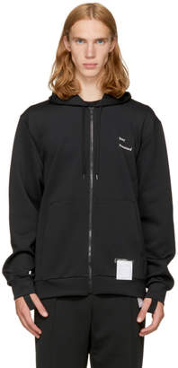 Satisfy Black Spacer Post-Run Zip Hoodie