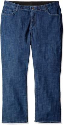 Lee Indigo Women's Petite-Plus-Size Slender Stretch Slim Straight Leg Jean