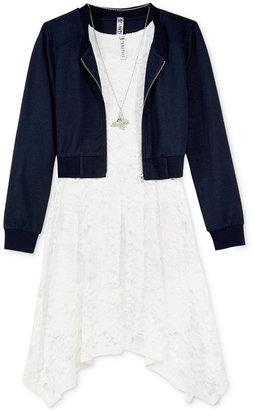 Beautees 2-Pc. Jacket, Lace Dress & Necklace Set, Big Girls (7-16) $64 thestylecure.com