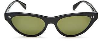 Oliver Peoples Zasia Cat Eye Sunglasses, 53mm