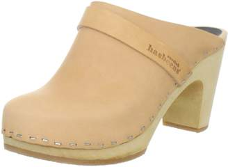 Swedish Hasbeens Women's Slip In Classic Mule,Natural