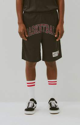 Basketball Skateboards Black Mesh Basketball Shorts