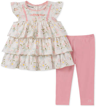 bb45283bdf Calvin Klein Baby Girls 2-Pc. Tunic   Leggings Set