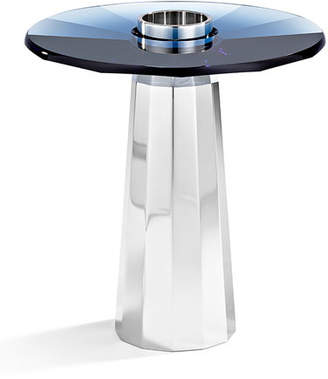 Swarovski Small Plinth Candleholder, Montana Blue